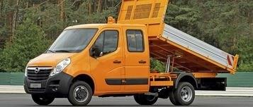 Opel Vivaro самосвал, оранжев